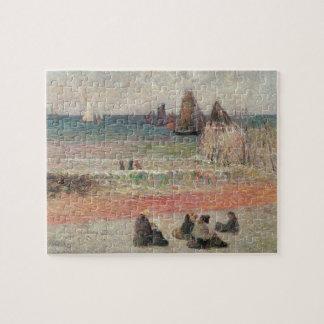 Bathing Dieppe by Paul Gauguin, Vintage Fine Art Jigsaw Puzzle
