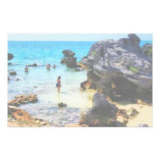 Bathing in the Ocean St George Bermuda Stationery
