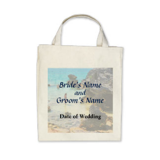 Bathing in the Ocean St. George Wedding Products Tote Bags