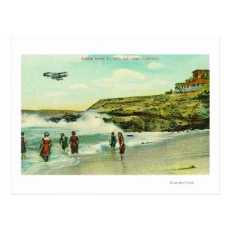 Bathing Scene at La Jolla BeachSan Diego, CA Postcard