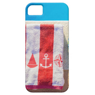 Bathing slippers and bath towel at swimming pool barely there iPhone 5 case