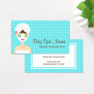 Bathing Woman With A Face Mask Day Spa Business Card