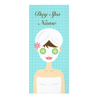 Bathing Woman With A Face Mask Service Menu Customised Rack Card