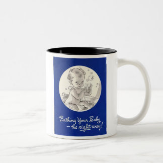 Bathing Your Baby the Right Way Two-Tone Mug