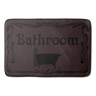 Bathmat bathroom vintage tub brown black