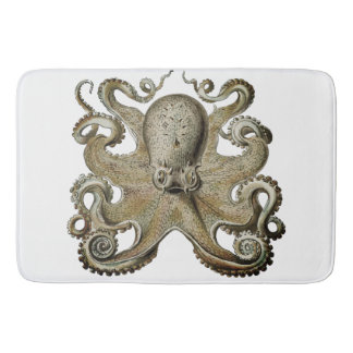 Bathmat black  silver grey  Octopus gold