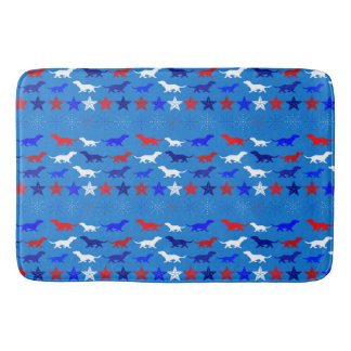 Bathmat - Patriotic Colors Floor Mats - Dog Art Bath Mats