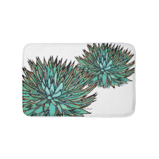 Bathmats - Spikey Blue Agave Bath Mats