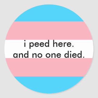 bathroom bill protest round sticker
