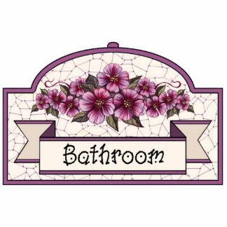 """Bathroom"" - Decorative Sign - 45 Photo Sculpture Decoration"