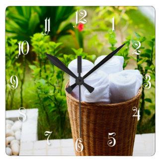 Bathroom details square wall clock