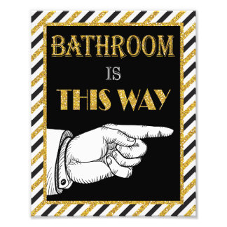 """Bathroom Direction Sign (Right) - 8"""" x 10"""" Print"""