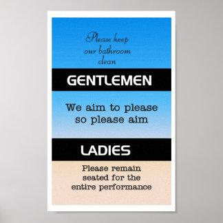 Bathroom Etiquette Poster