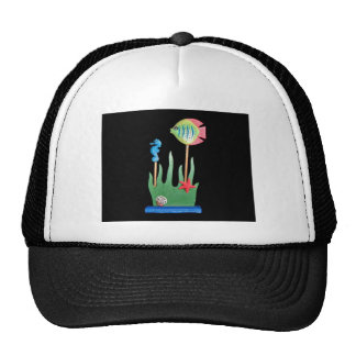 Bathroom fish set mesh hat