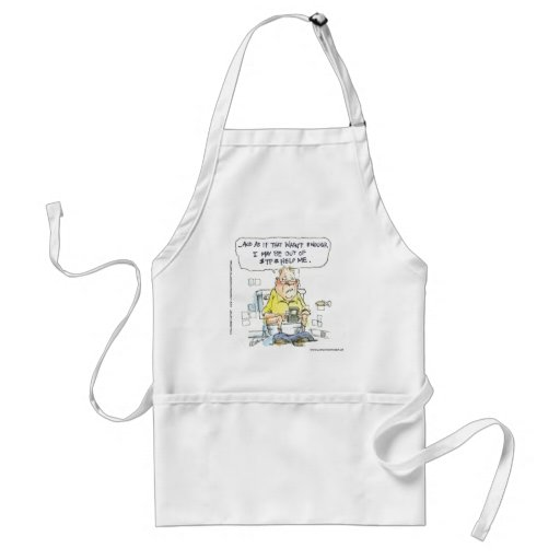 Bathroom Not 4 Social Networking Funny Tees & Gift Apron