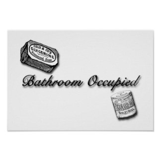 Bathroom Occupied Sign