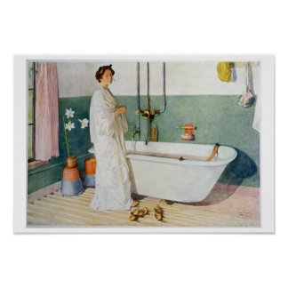 Bathroom Scene - Lisbeth, pub. in 'Lasst Licht Hin Poster