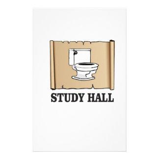 bathroom study hall customised stationery