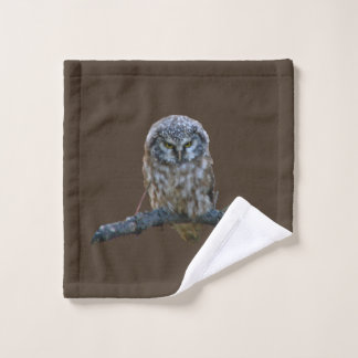 Bathroom towel set w/ owl