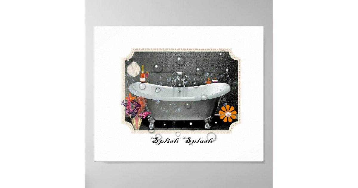 Bathroom wall decor vintage inspired art print for Bathroom wall t shirts australia