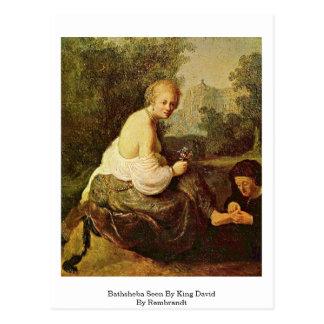 Bathsheba Seen By King David By Rembrandt Postcard
