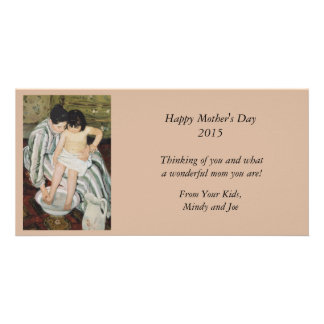 Bathtime Mother and Child Customised Photo Card
