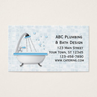 Bathtub, Shower, Tiles Business Card