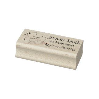 Bathtub Toy Yellow Rubber Duck Ducky Address Stamp