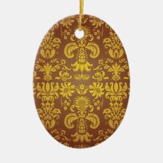 Batik Bali style design Ceramic Oval Decoration