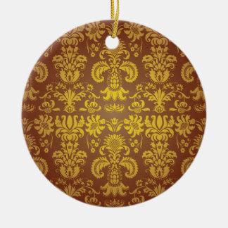 Batik Bali style design Round Ceramic Decoration