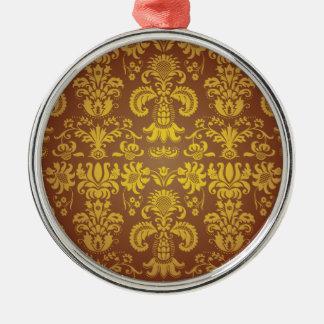Batik Bali style design Silver-Colored Round Decoration