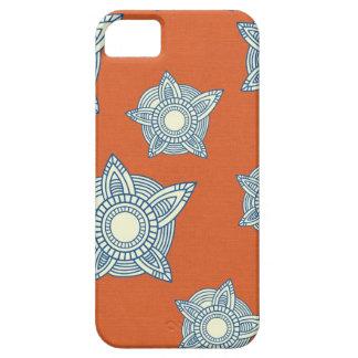 Batik boho chic girly tribal orange damask pattern iPhone 5 cover
