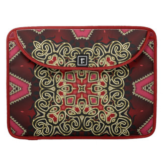 Batik Celtic Fusion Red Gold Laptop Sleeve Sleeves For MacBook Pro