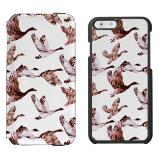 Batik Dusty Rose Geese in Flight Waterfowl Animals Incipio Watson™ iPhone 6 Wallet Case