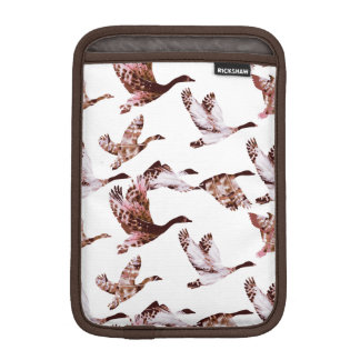 Batik Dusty Rose Geese in Flight Waterfowl Animals iPad Mini Sleeve