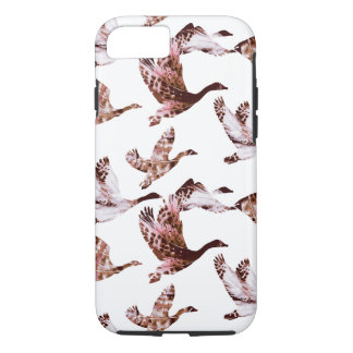 Batik Dusty Rose Geese in Flight Waterfowl Animals iPhone 8/7 Case