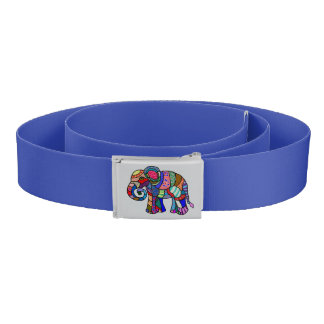 Batik ethno retro tribal ornamental elephant belt
