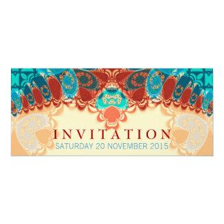 Batik Exotic Birthday / Special Occasion Invitatio 10 Cm X 24 Cm Invitation Card