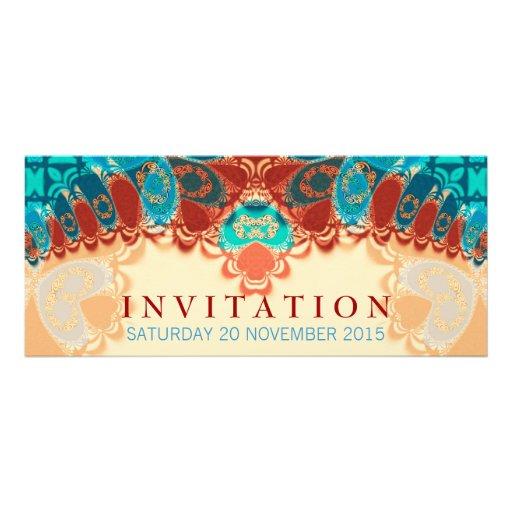 Batik Exotic Birthday / Special Occasion Invitatio Custom Announcements