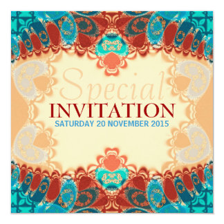 Batik Exotic Square Birthday / Special Invites