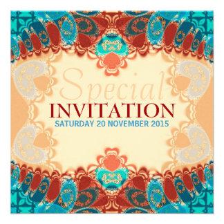 Batik Exotic Square Birthday Special Invites