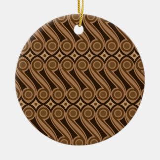 batik kulasa 03 ceramic ornament