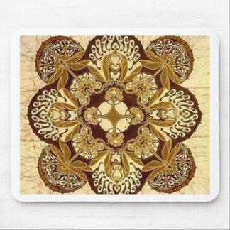 Batik Mandala in Brown and Tan Mouse Pad