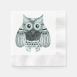 Batik Owl  Cocktail Paper Napkins Paper Napkin