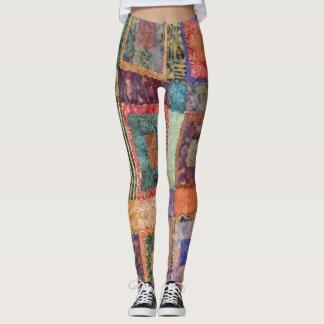 Batik Quilt Leggings