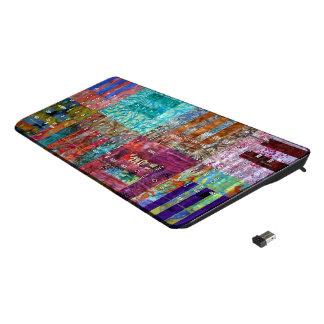 Batik Quilt Squares Wireless Keyboard