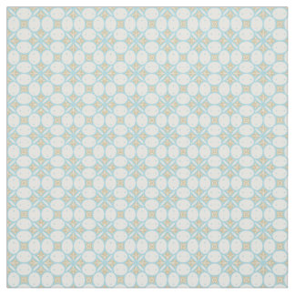 Batik Seamless Pattern Fabric in Aqua and Tan