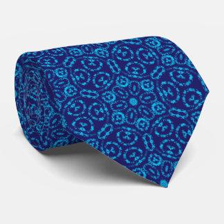 Batik Style Blue Abstract pattern Tie