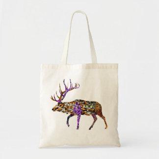 Batik Style Bull Elk tote bag