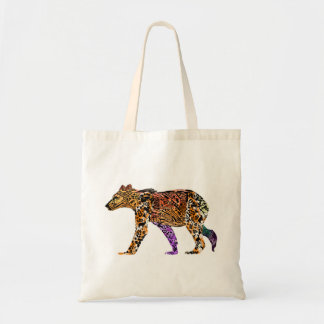 Batik Style Grizzly Bear tote bag